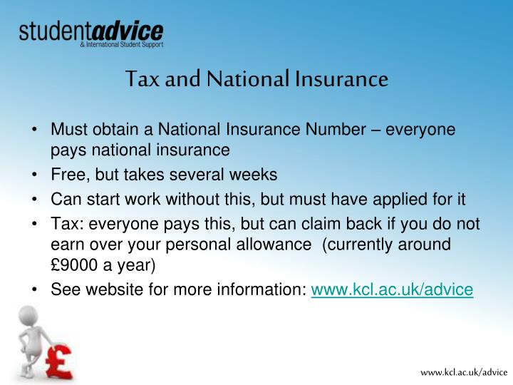Tax and National Insurance