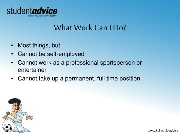 What Work Can I Do?