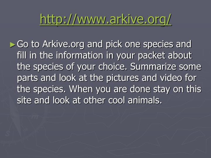 http://www.arkive.org/