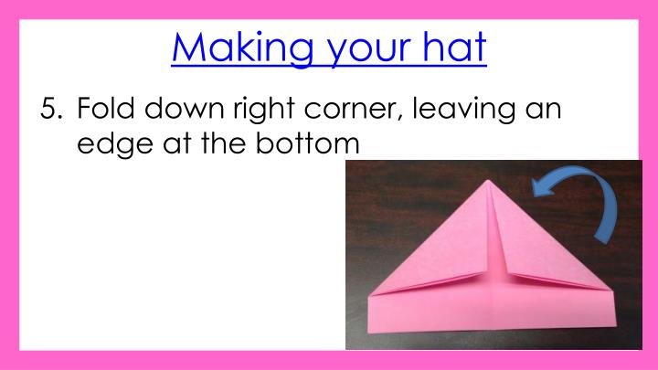 Making your hat