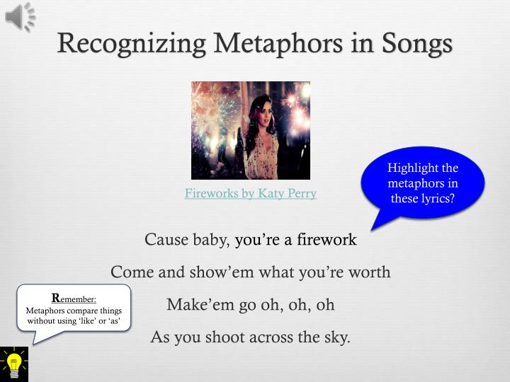 Recognizing Metaphors in Songs