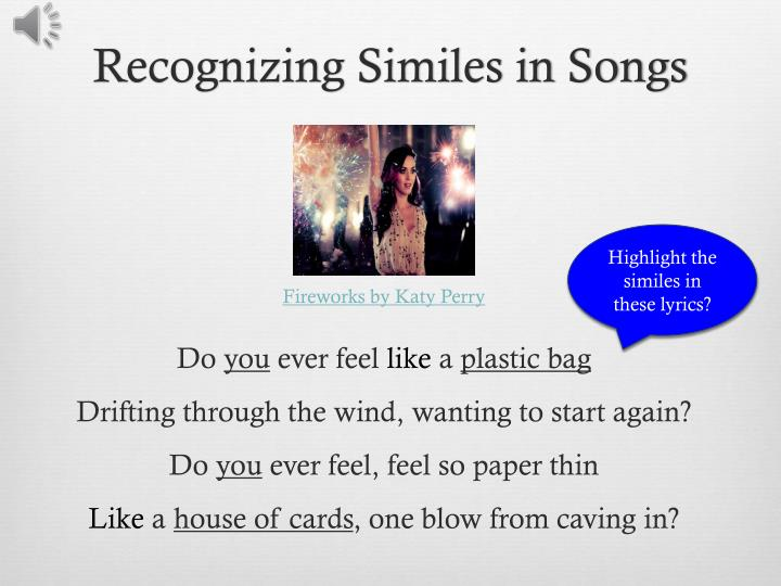 Recognizing Similes in Songs