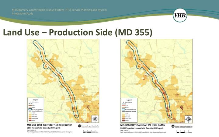 Land Use – Production Side (MD 355)