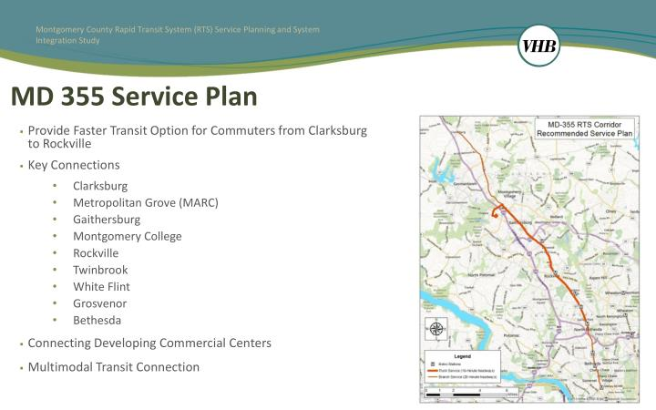 MD 355 Service Plan