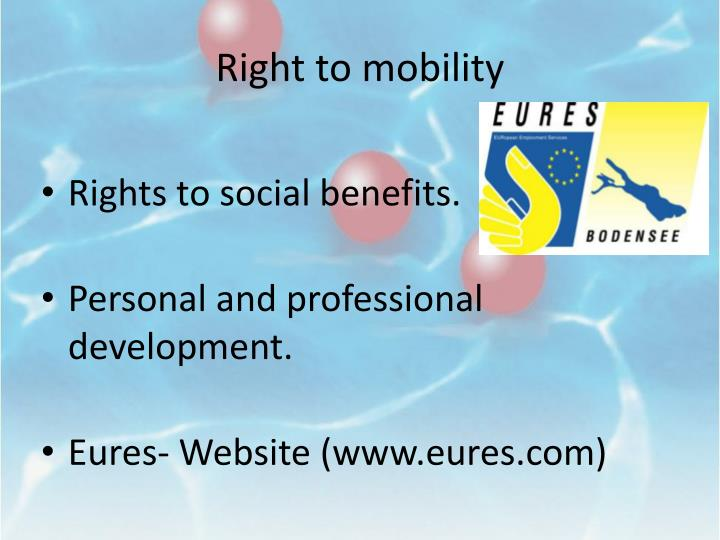 Right to mobility