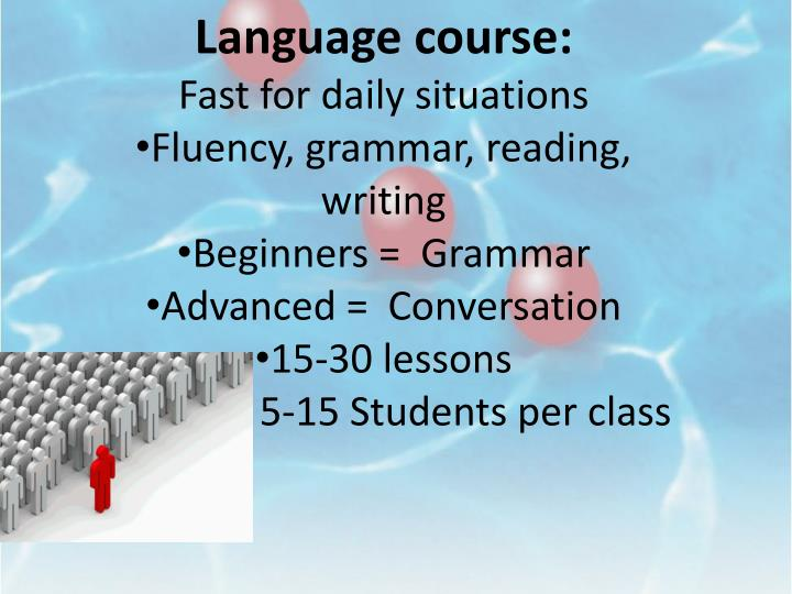 Language course: