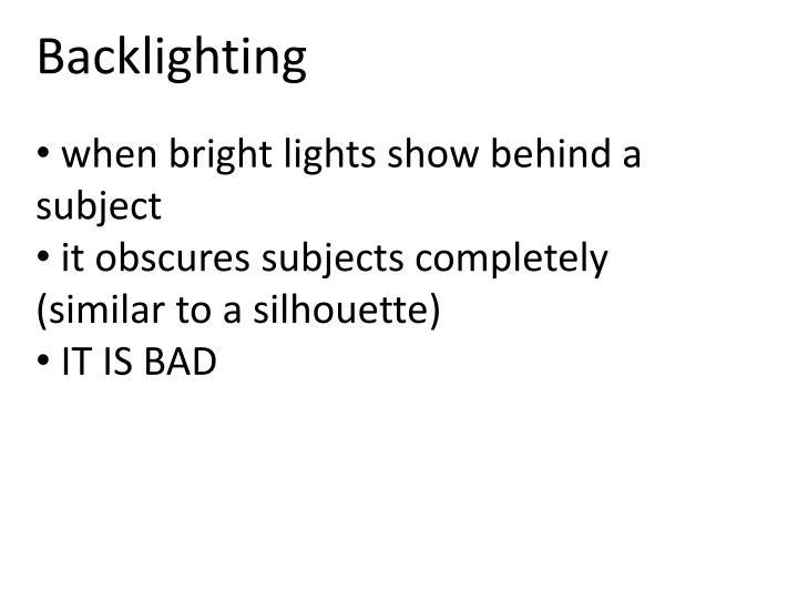 Backlighting