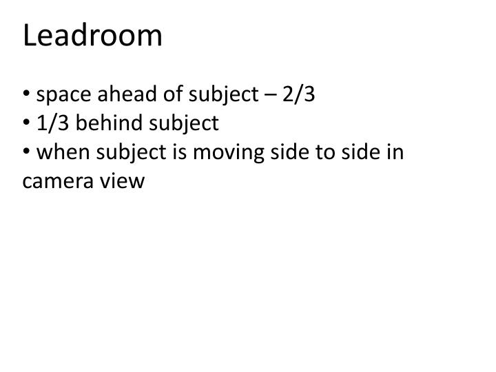 Leadroom