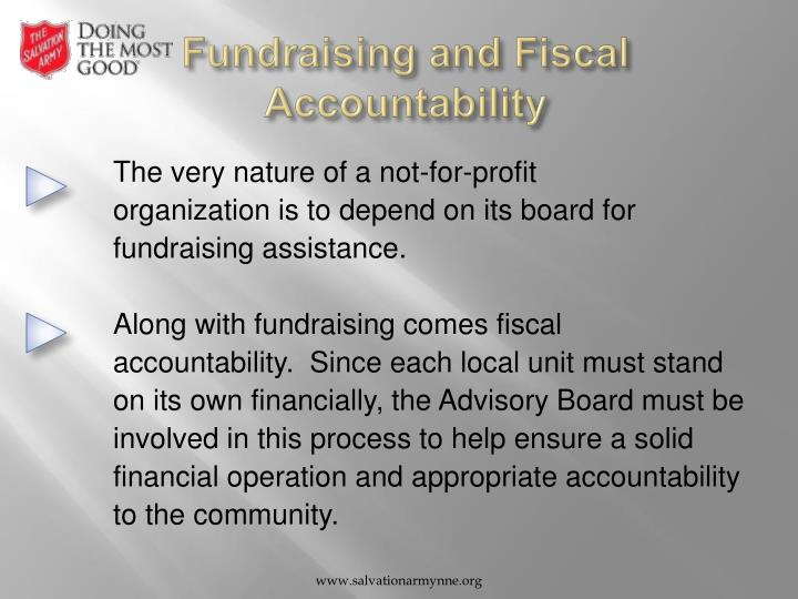 Fundraising and Fiscal Accountability