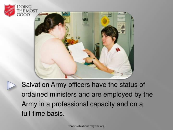 Salvation Army officers have the status of