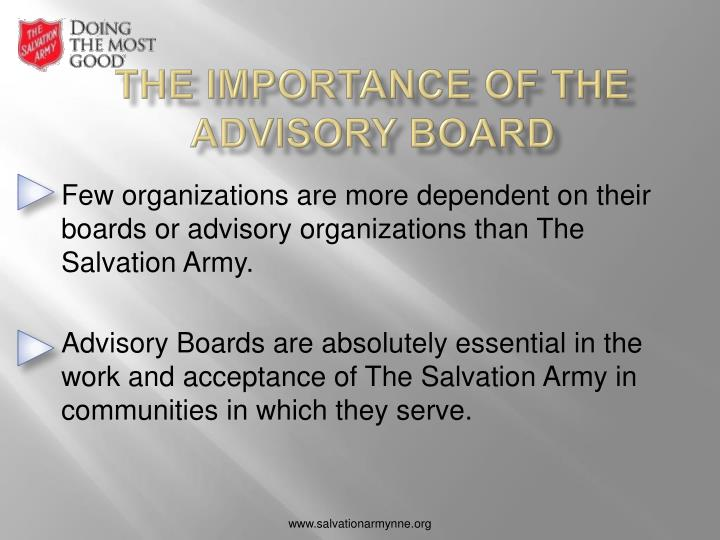 The importance of the advisory board
