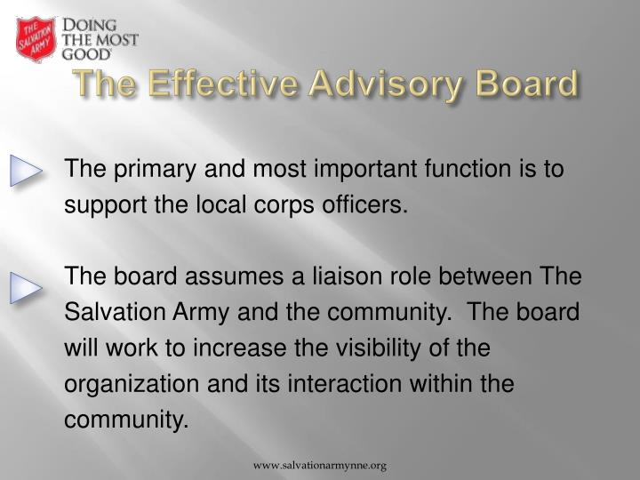 The Effective Advisory Board