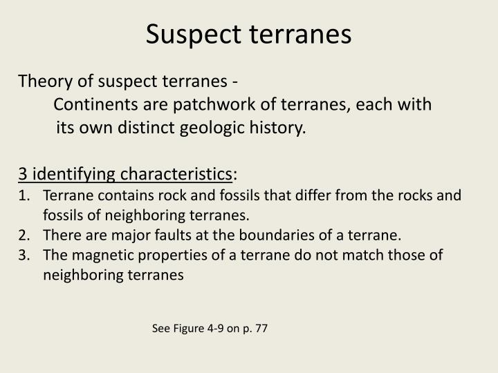 Suspect terranes