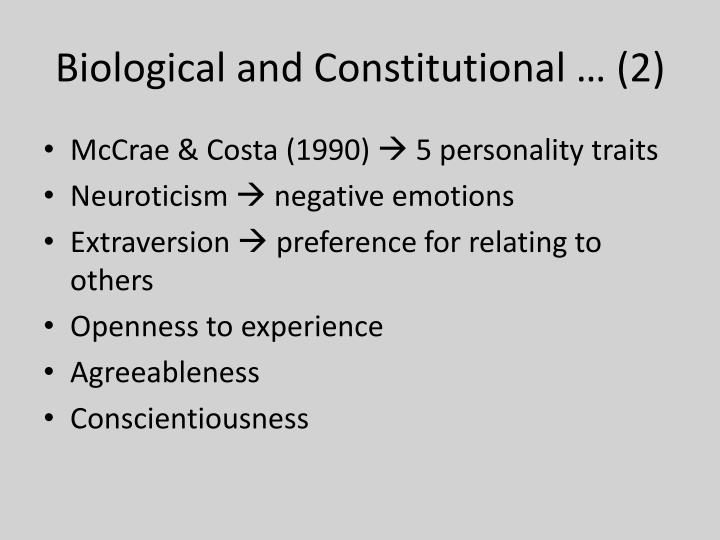 Biological and Constitutional … (2)