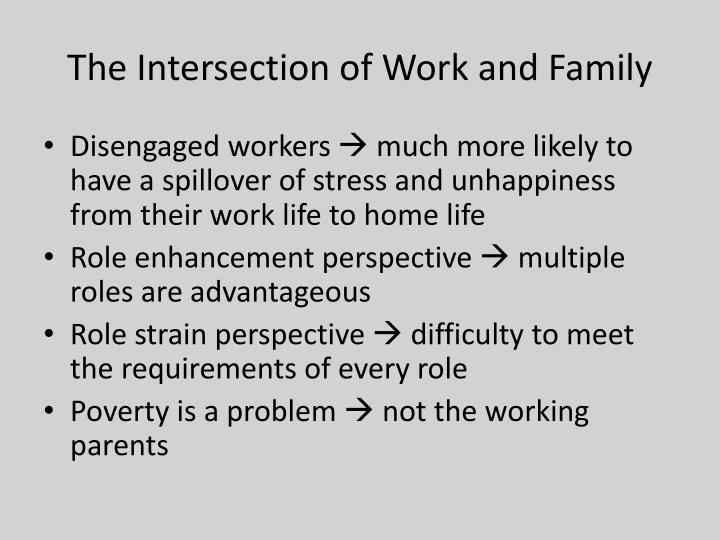 The Intersection of Work and Family