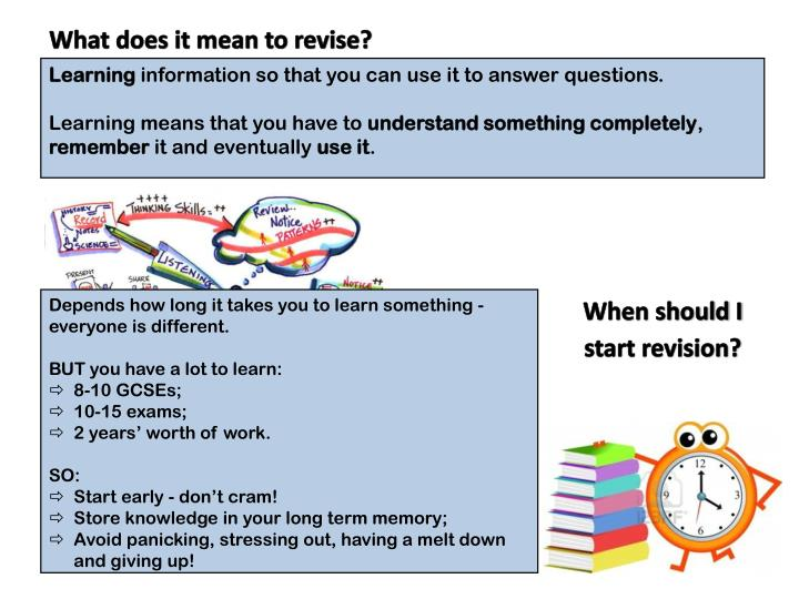 What does it mean to revise?