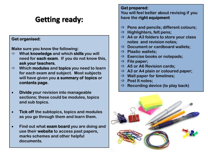 Get prepared:
