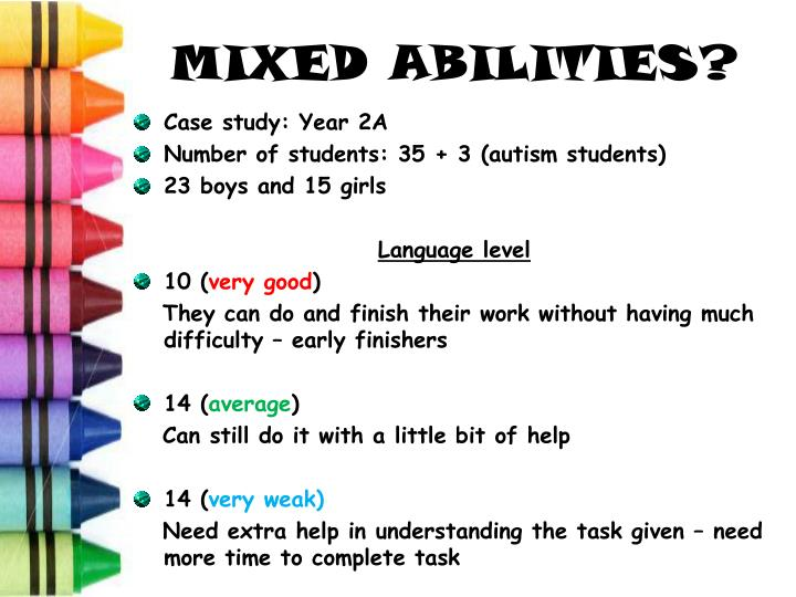 MIXED ABILITIES?