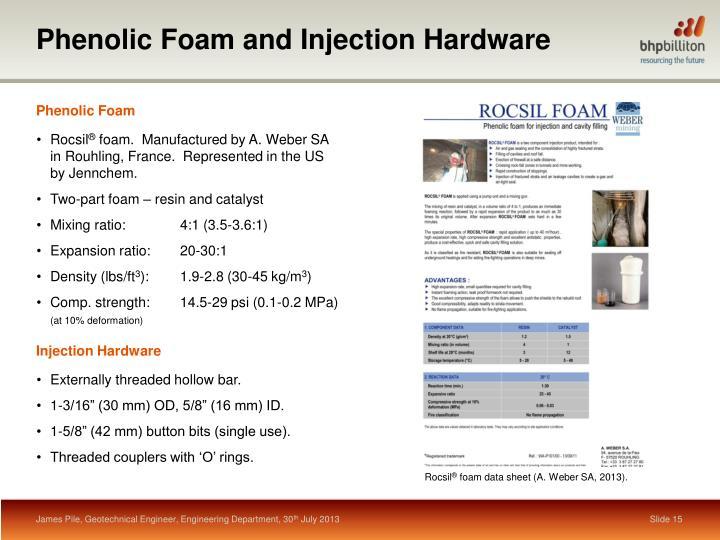 Phenolic Foam and Injection Hardware