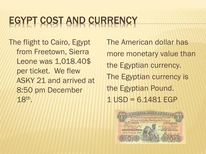 Egypt Cost and Currency