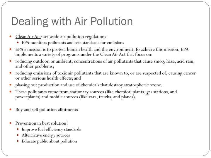 Dealing with Air Pollution