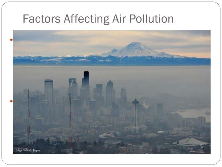 Factors Affecting Air Pollution