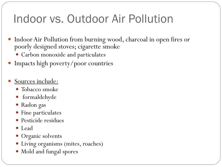 Indoor vs. Outdoor Air Pollution