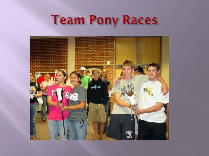 Team Pony Races
