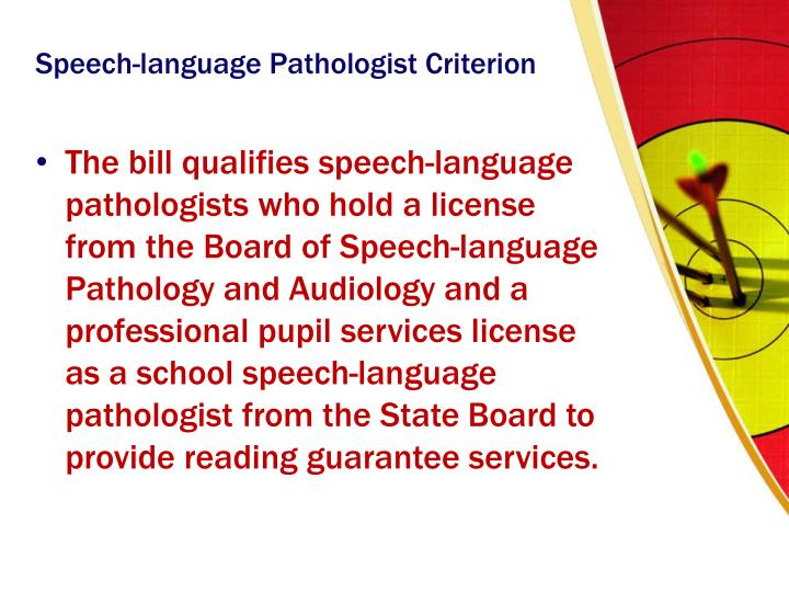 Speech-language Pathologist Criterion