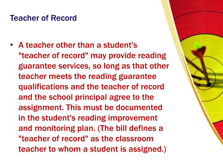 Teacher of Record