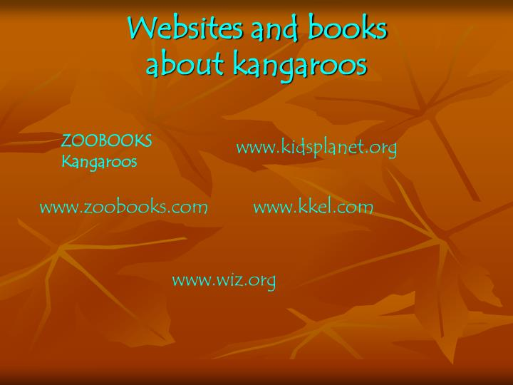 Websites and books