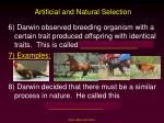 artificial and natural selection