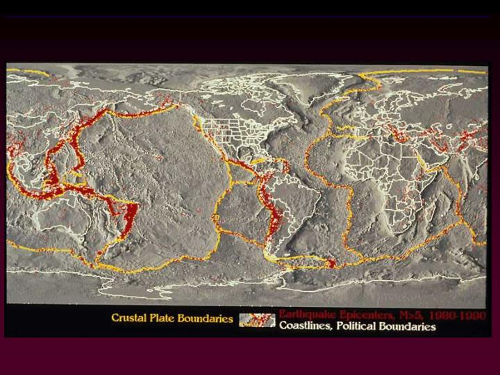 Figure 25.3x1  Crustal plate boundaries