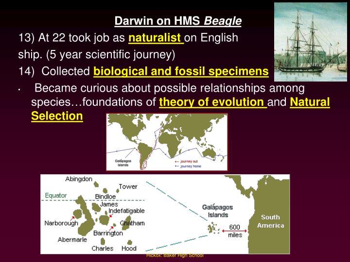 Darwin on HMS