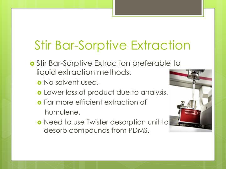 Stir Bar-Sorptive Extraction