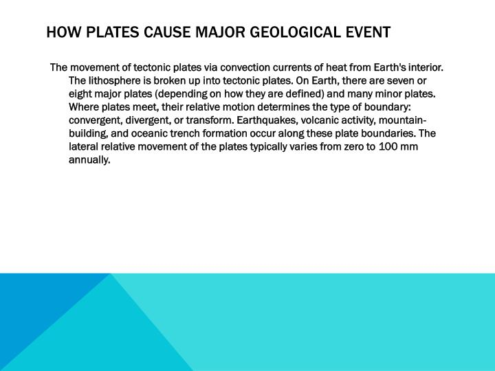 How plates cause major geological event