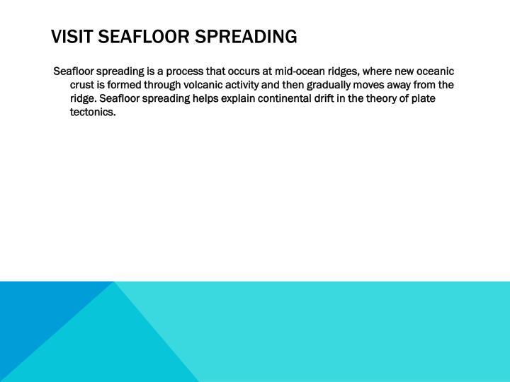 Visit seafloor spreading
