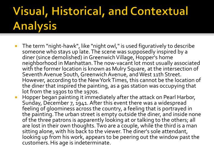 Visual, Historical, and Contextual Analysis