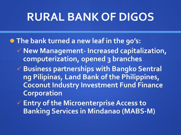 RURAL BANK OF DIGOS