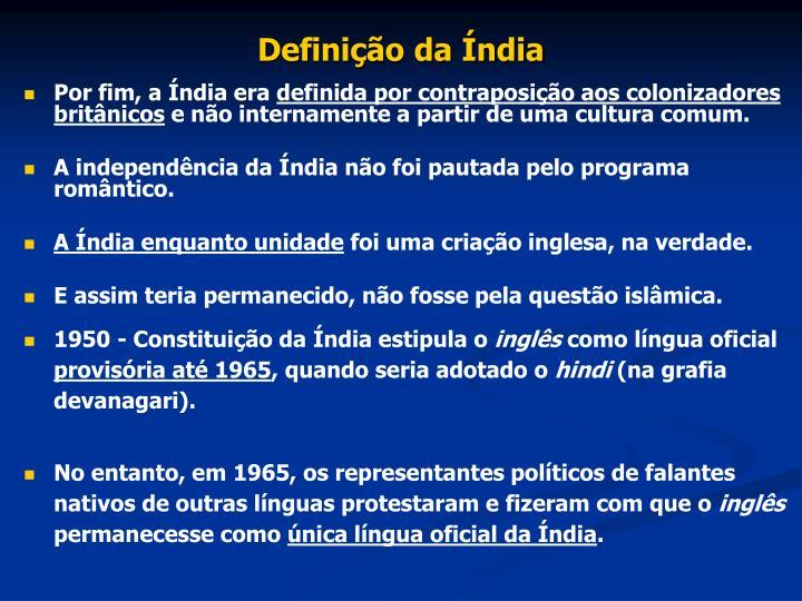 Definição da Índia