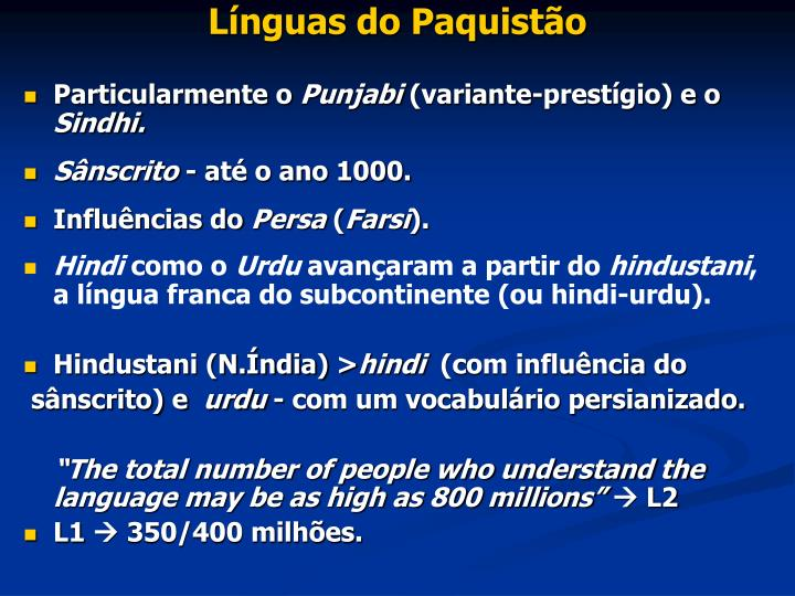 Línguas do Paquistão