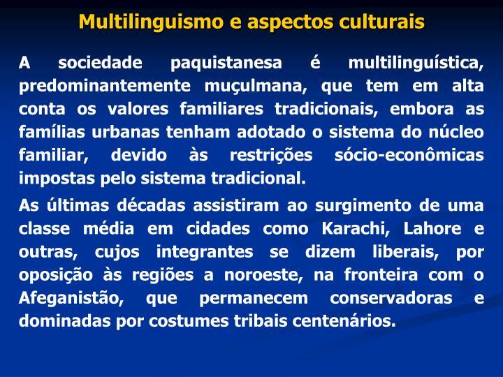 Multilinguismo e aspectos culturais