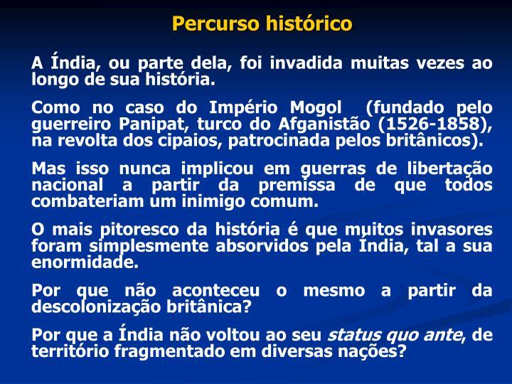 Percurso histórico