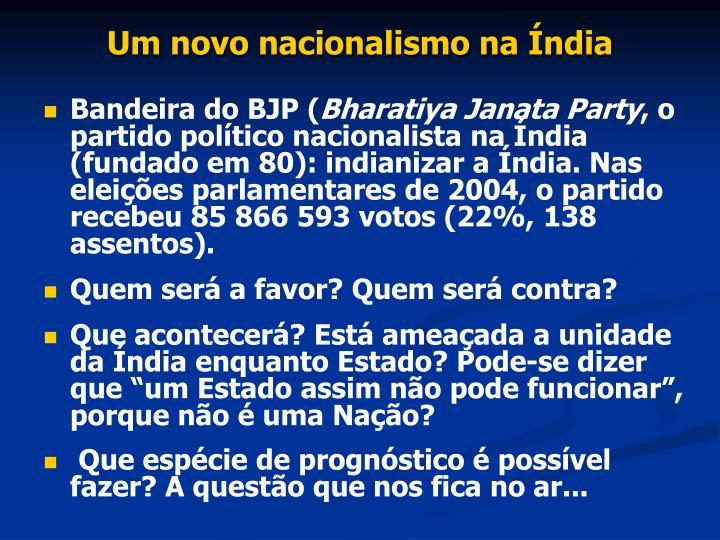 Um novo nacionalismo na Índia
