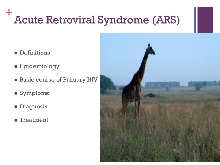 Acute retroviral syndrome ars