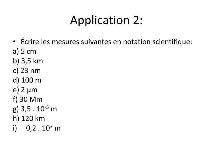 Application 2: