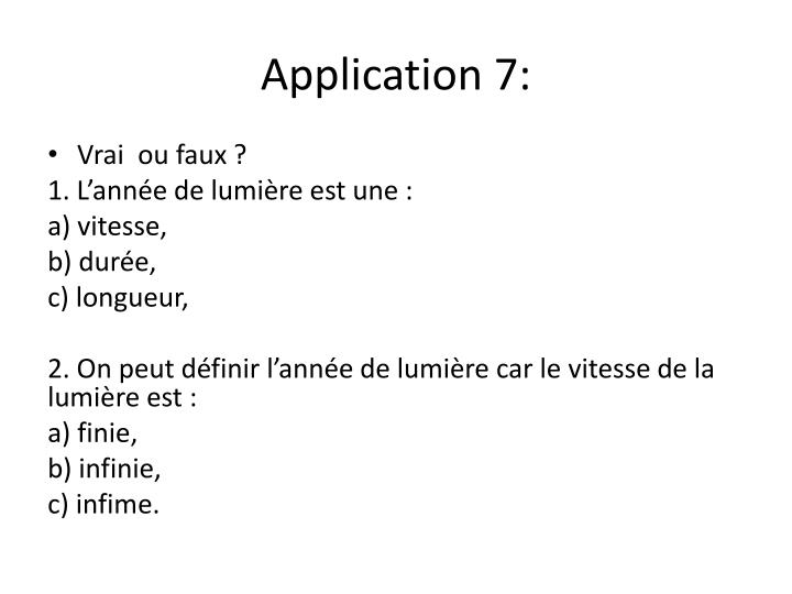 Application 7: