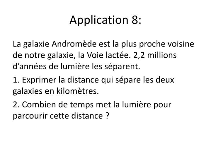 Application 8:
