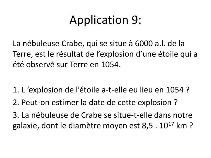 Application 9: