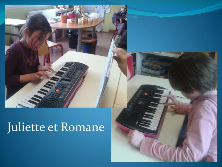 Juliette et Romane